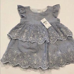 Baby Gap Eyelit Striped Dress 3-6 months